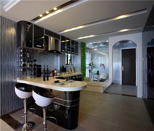 厨房吧台设计效果图 开放式厨房吧台设计欧美范儿