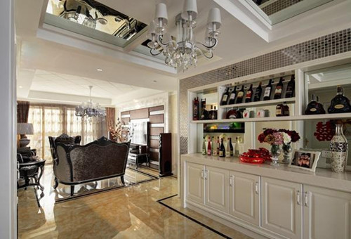 2017客厅装饰酒柜效果图 别有风情的客厅装饰酒柜-酒柜样式效果图