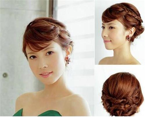 伴娘发型短发图片推荐 伴娘短发怎么扎简单又好看-短发新娘婚纱照发图片