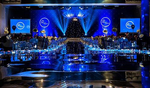 蓝色婚礼布置技巧蓝色海洋婚礼效果图