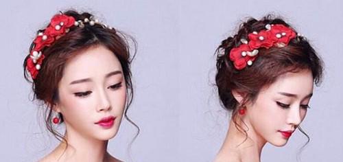 中式婚礼发型图片 短发怎么做新娘中式发型