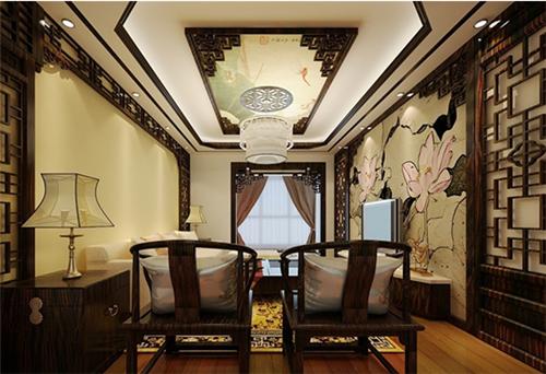 中式客厅吊顶造型方案