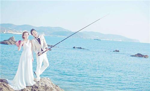 三亚海景婚纱摄影图片欣赏 三亚海景婚纱照拍摄技巧-大连婚纱摄影排