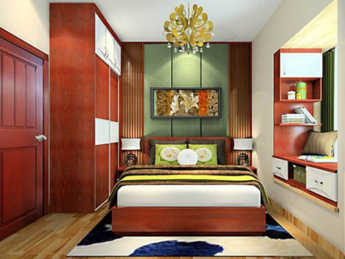 小房间榻榻米床装修效果图 榻榻米衣柜书桌一体设计案例-小房间大收纳