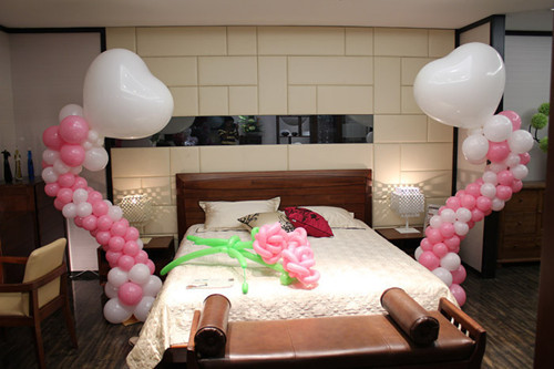 装修新闻 结婚怎样布置新房好 结婚新房布置图片2017  气球一直是一种图片