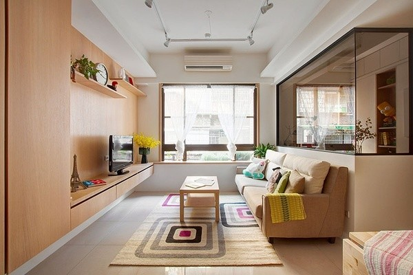 客厅隔断墙效果图 客厅与卧室隔断墙样式分析