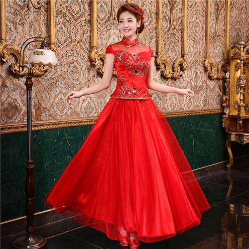 新娘装红色结婚礼服赏析 哪些新娘适合穿红色礼服图片