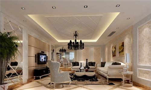 石膏吊顶装修效果图 家庭房屋装修之石膏板吊顶