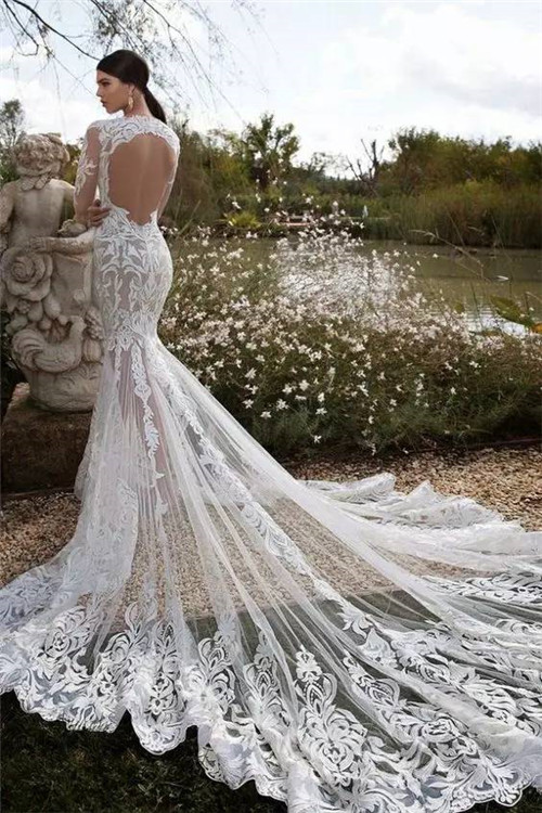 唯美婚纱图片新娘背影 露背婚纱内衣怎么穿