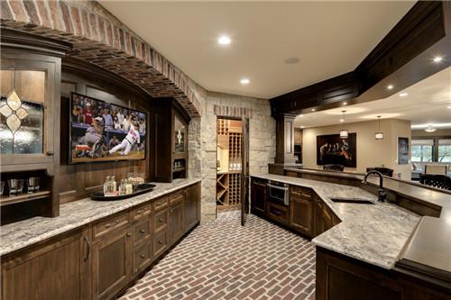 开放式厨房装修效果图 豪华时尚的开放式厨房设计