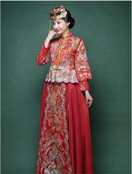 中式婚纱礼服如何搭配 中式礼服款式有哪些
