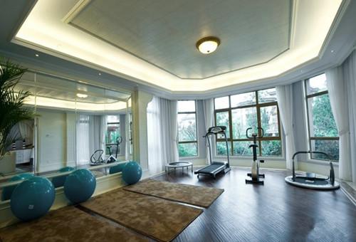 家庭健身房装修效果图 8㎡家庭小型健身房装修眼界大开
