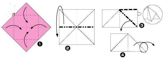 纸菠萝的折法图解 很实用的方法