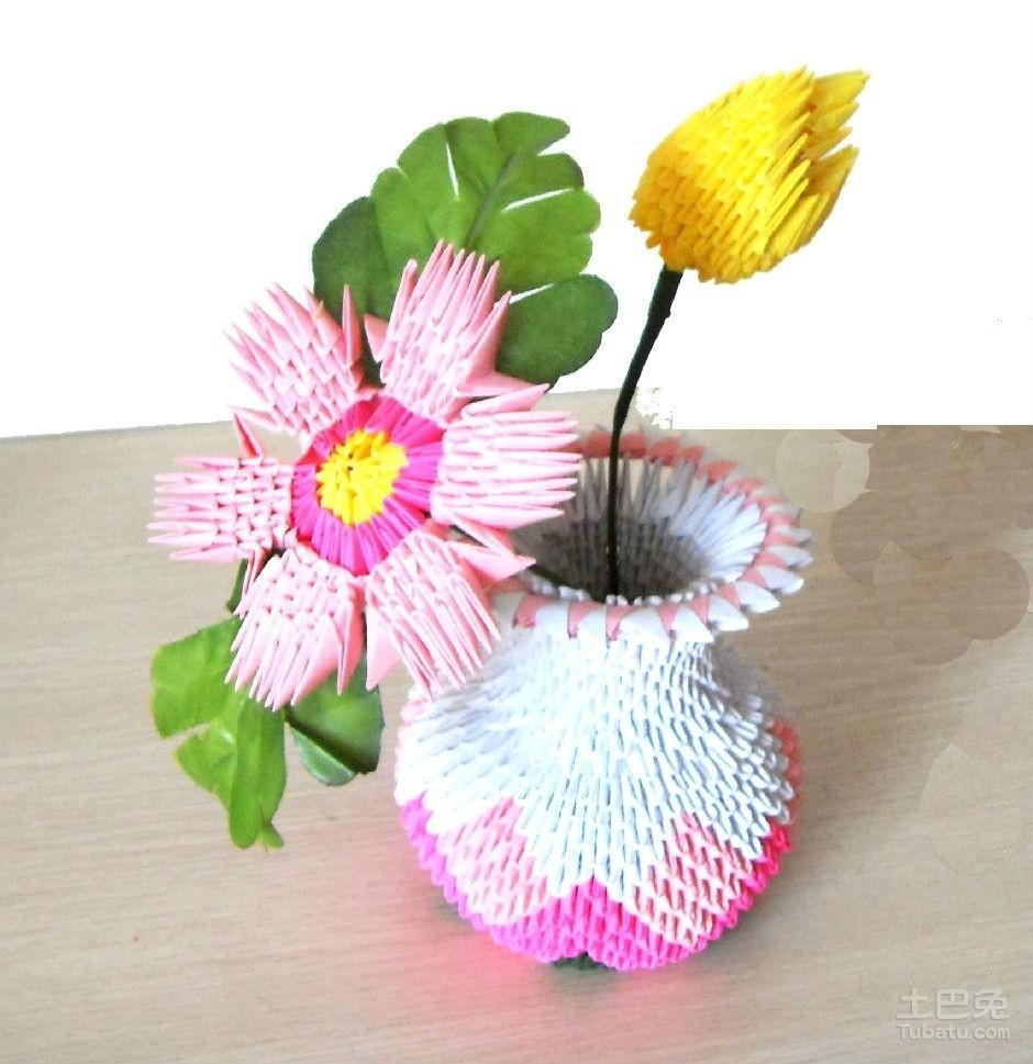 创意家居生活:纸花瓶的折法及造型