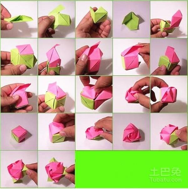 仙鹤折纸步骤分享 传递爱的祝福!